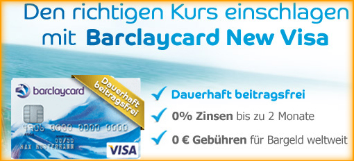 sommeraktion barclaycard new visa dauerhaft beitragsfrei. Black Bedroom Furniture Sets. Home Design Ideas