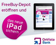 OnVista Bank FreeBuy-Depot iPad-Aktion