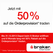Sparkassen Broker 50%-Aktion