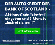 Bank of Scotland Autokredit - 3 Monate zinsfrei