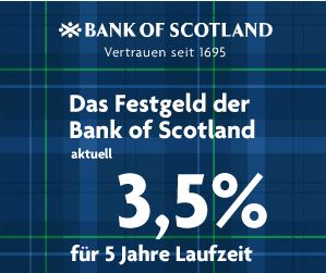 Bank of Scotland Festgeldkonto