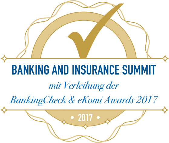 BankingCheck & eKomi Awards 2017
