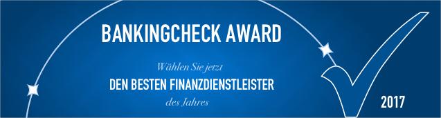 BankingCheck Award 2017 - Nachhaltige Bank