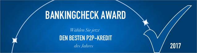 BankingCheck Award 2017 - P2P-Kredit