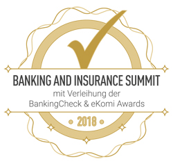 Banking and Insurance Summit 2018 mit Verleihung der BankingCheck und eKomi Awards